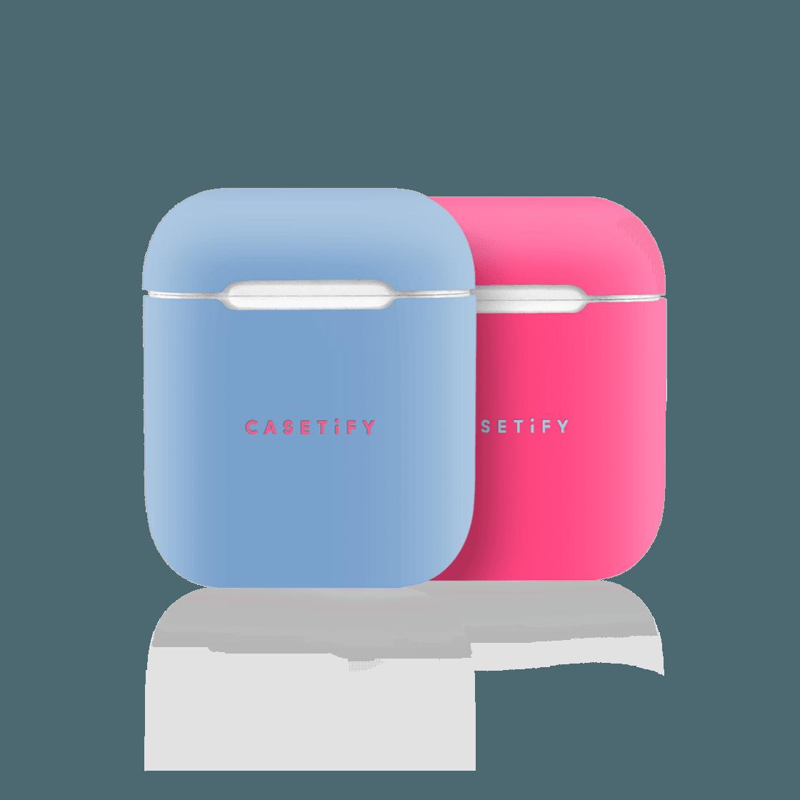 iPhone 7 Plus/7/6 Plus/6/5/5s/5c Case - Neon AirPods Case Skin (2 sets) Blue/Pink