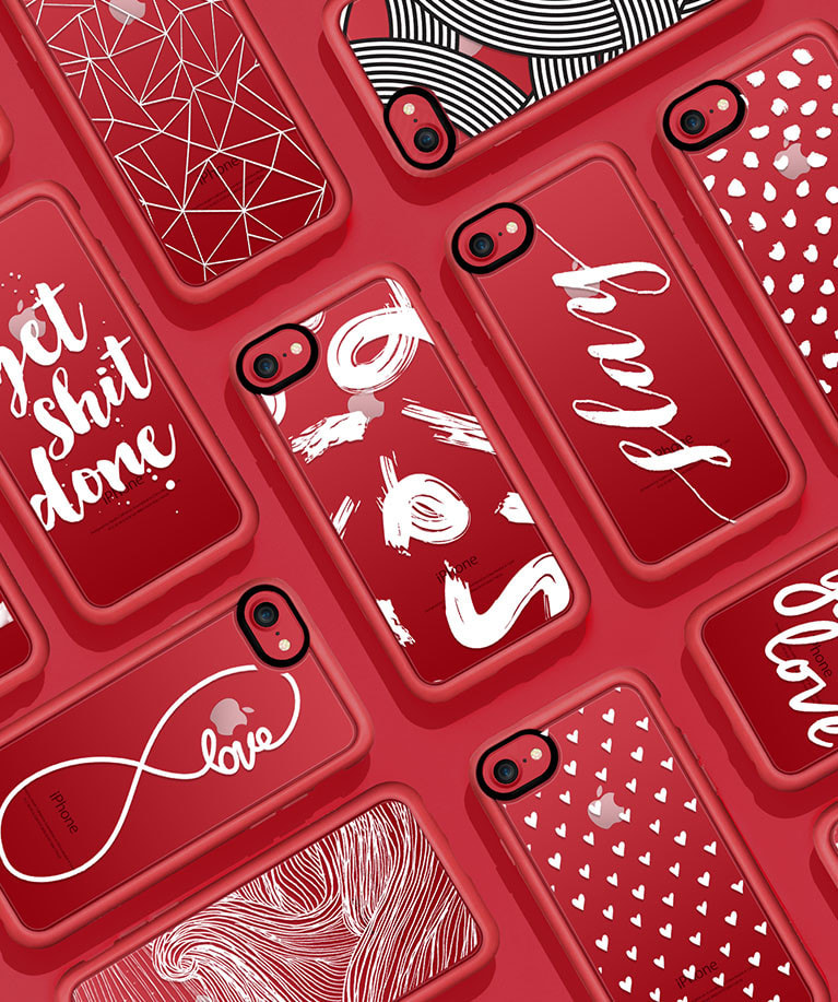 Iphone 7 Red Phone Case Collection Casetify